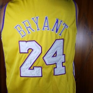 Men's Kobe Bryant #24 Lakers Sewn Yellow Jersey